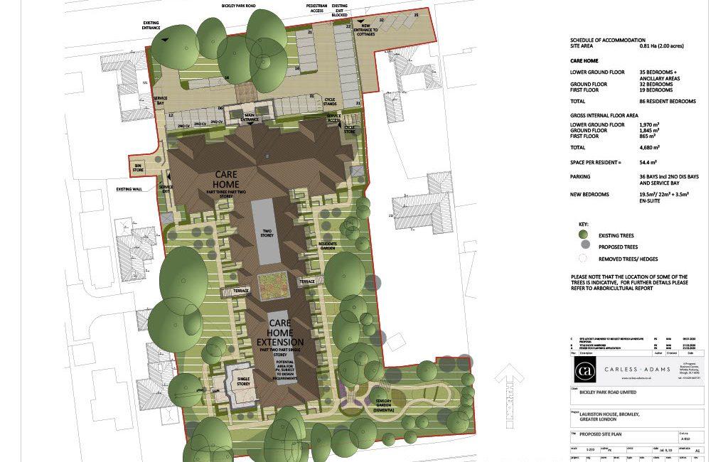 Lauriston House site plan