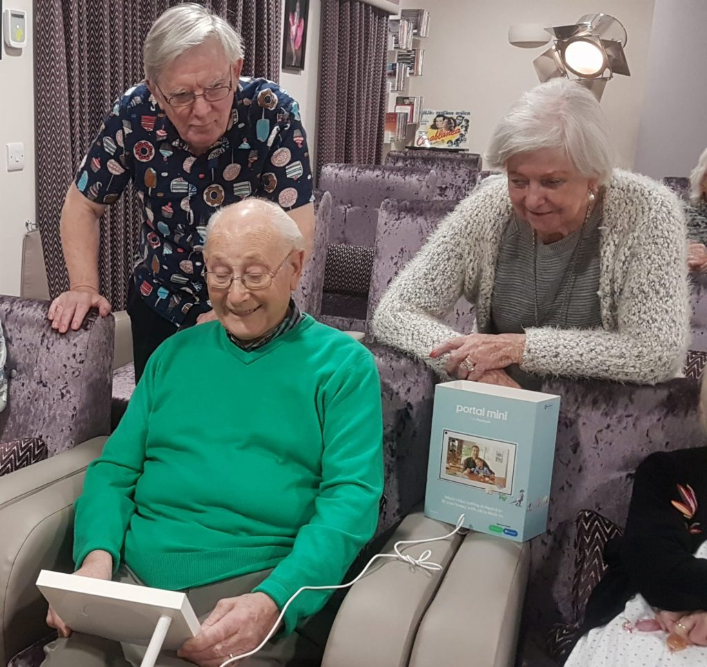 Care Home Residents using portal