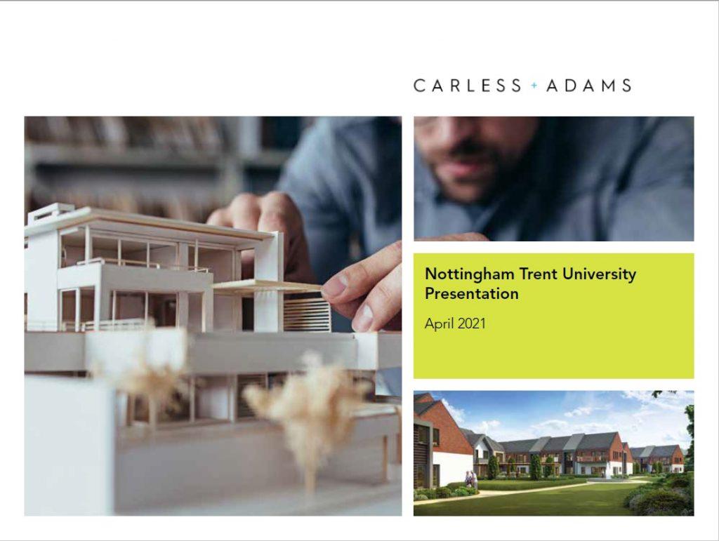 Carless + Adam Architects presentation to NTU