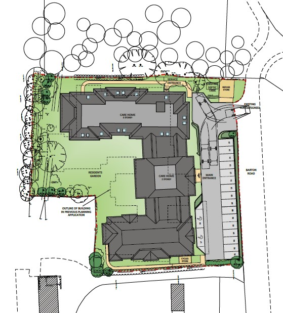 Architectural plans by Carless + Adams for Taymer House care home in Bedford