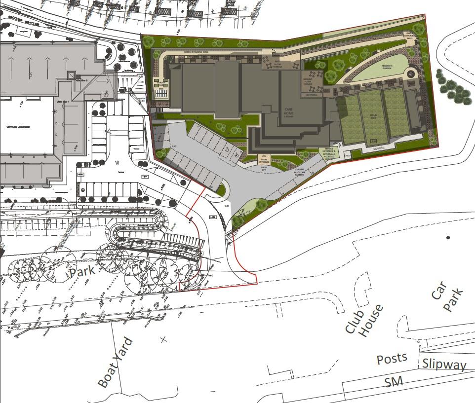 Carless + Adams site plan Steamer Quay Totnes