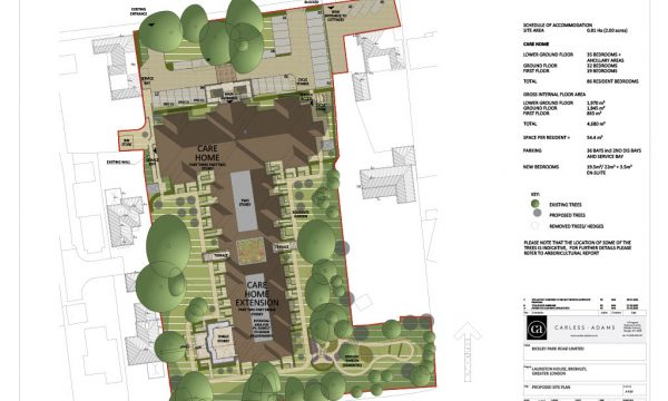 Bickely Hall Proposed Site Plan
