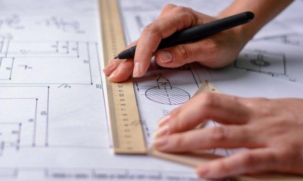 Architect's hands
